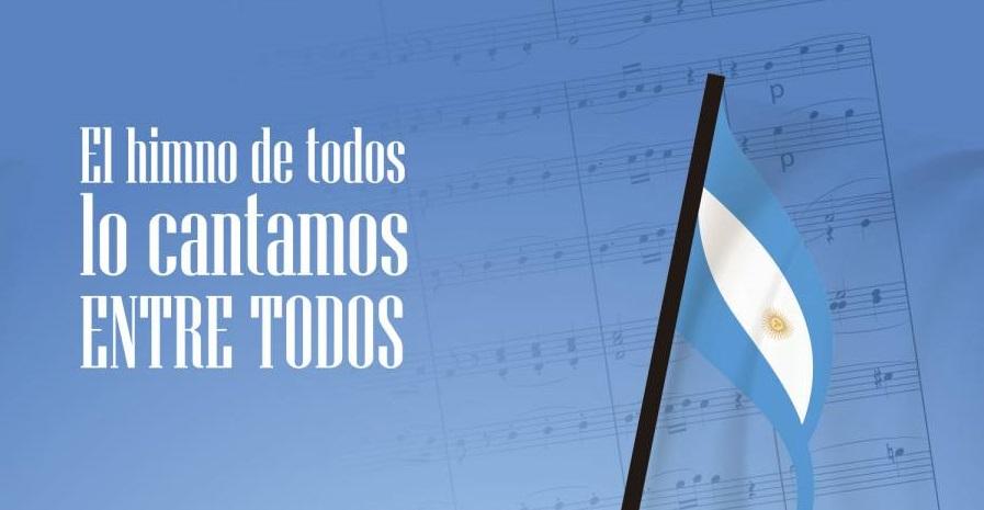 """Este sábado """"Al himno de todos lo cantamos entre todos"""""""