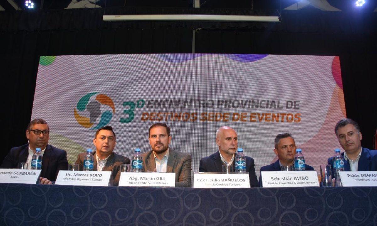 Se desarrolló exitoso el 3º Encuentro Provincial de Destinos Sedes de Eventos en Villa María