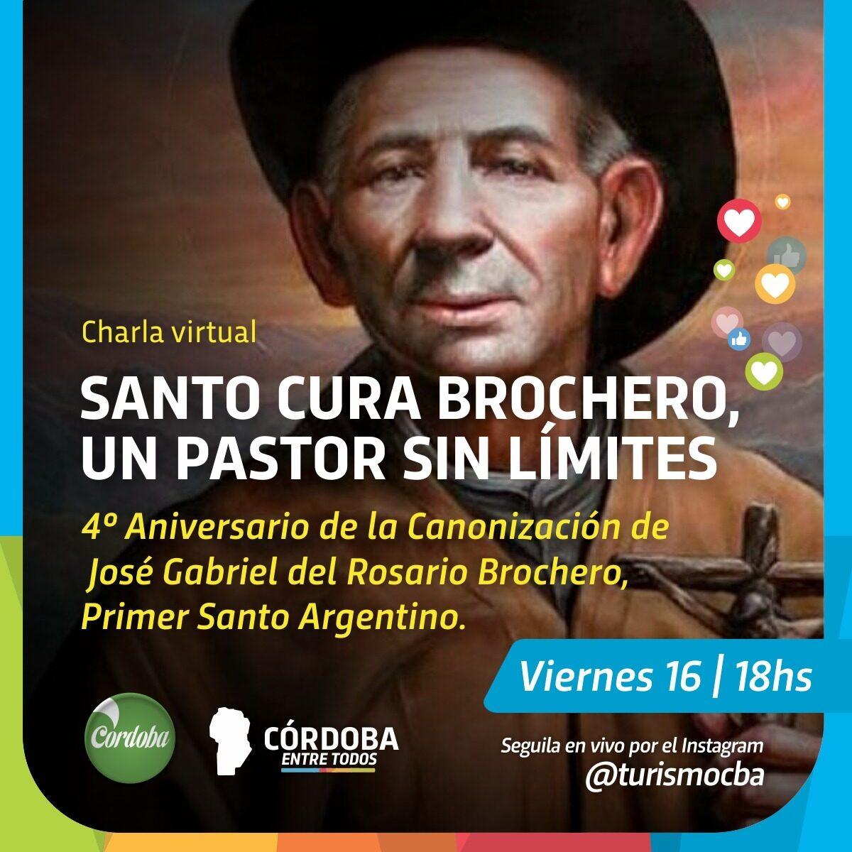 """Charla virtual sobre el Santo Cura Brochero, """"un pastor sin límites"""""""