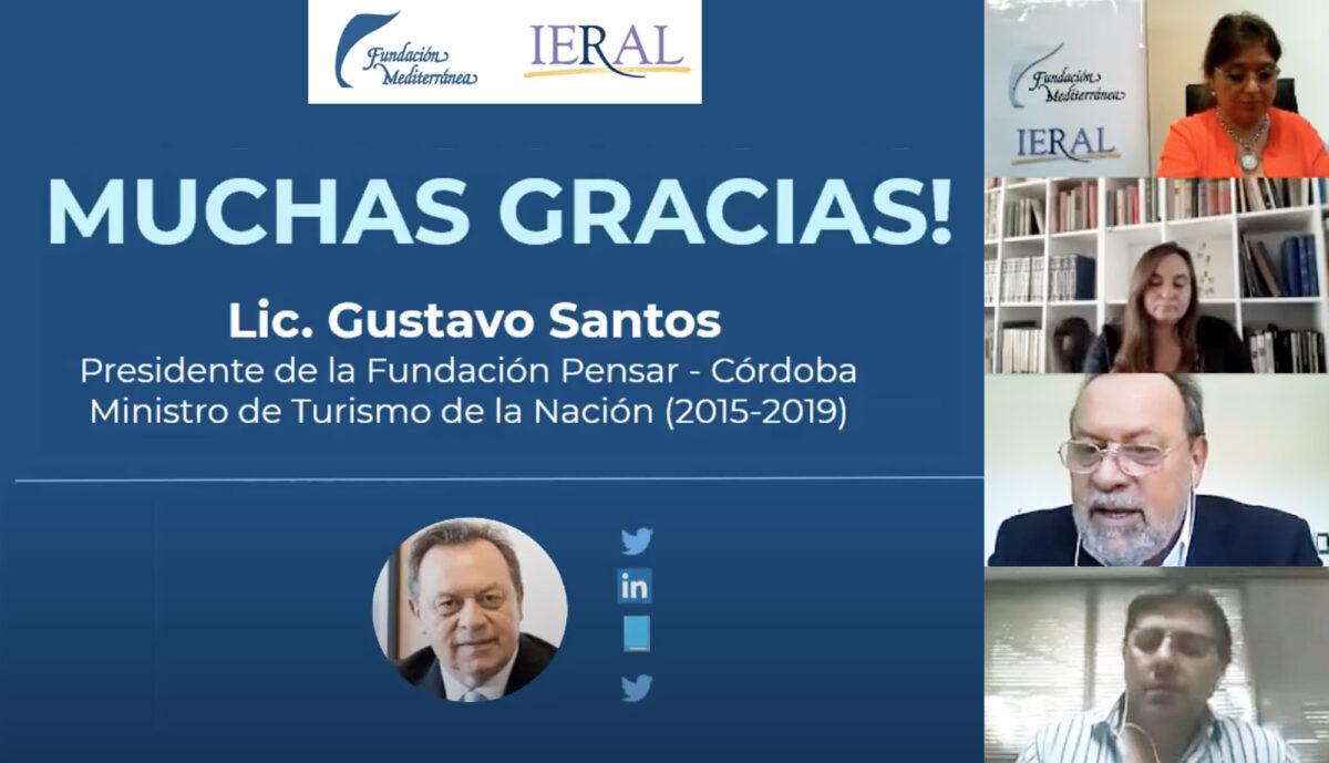 """Gustavo Santos en la Fundación Mediterránea: """"Argentina no está en condiciones de no tener temporada de verano"""""""