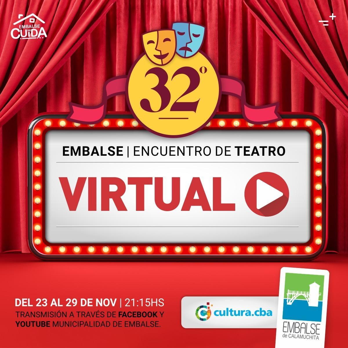 Embalse: Llega el 32° Encuentro de Teatro en formato virtual