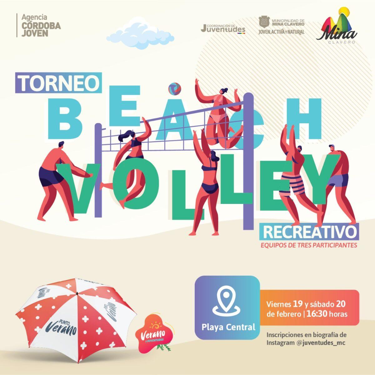 Mina Clavero abre el fin de semana con el Torneo Recreativo de Beach Voley