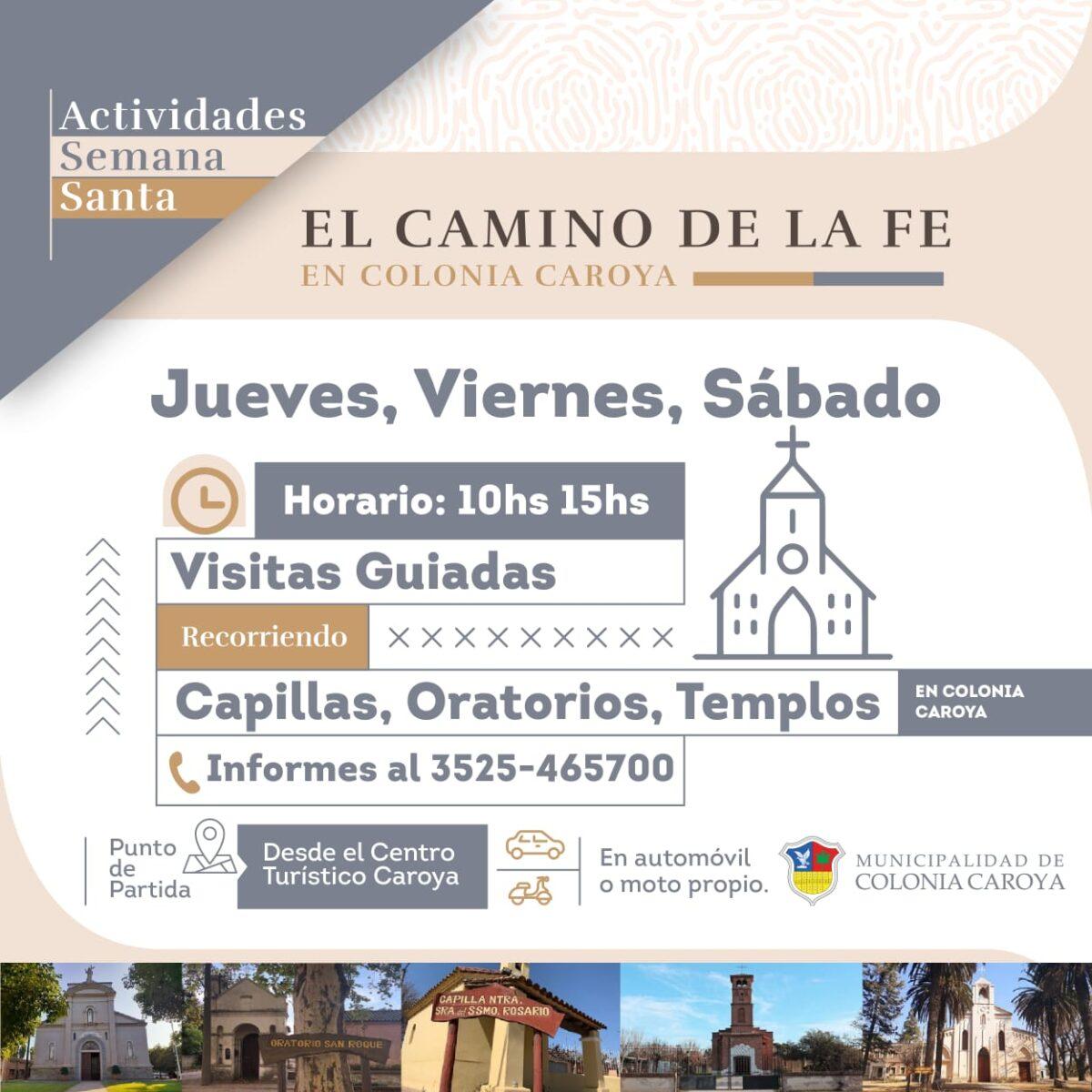 Colonia Caroya: Agenda de actividades para Semana Santa 2021